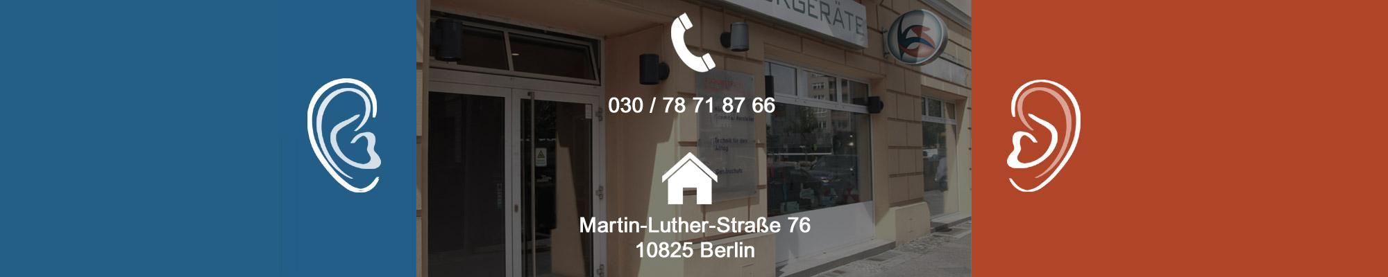 Adresse und Telefonnummer der KS-Hörgeräte Berlin